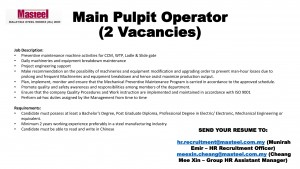 Main Pulpit Operator-1