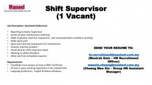 Shift Supervisor-1